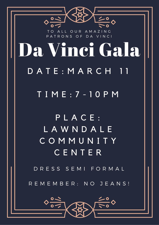 Da Vinci Gala Flyer