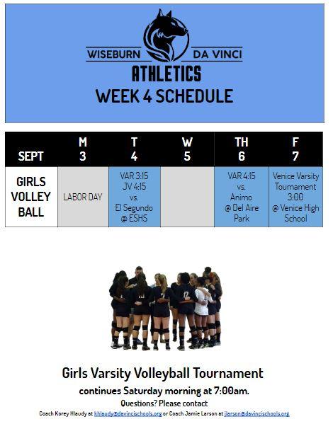 Week 4 DV Athletics