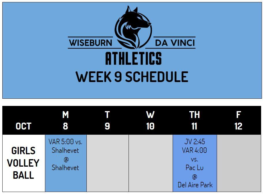 Week 9 Athletics