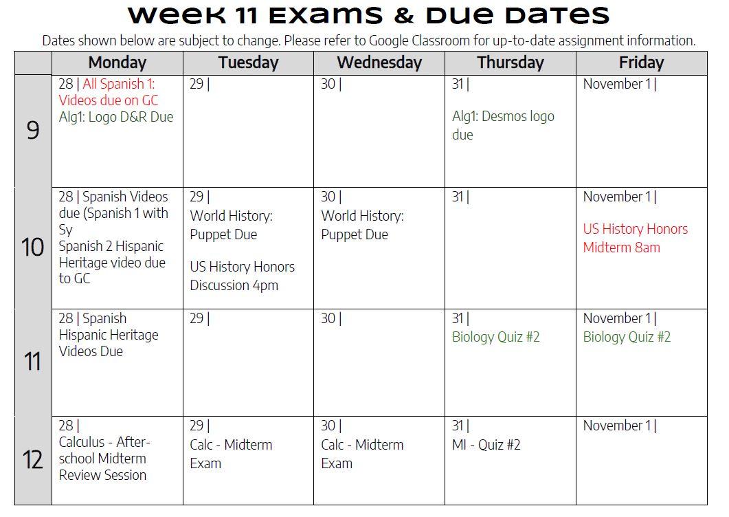Week11DueDates