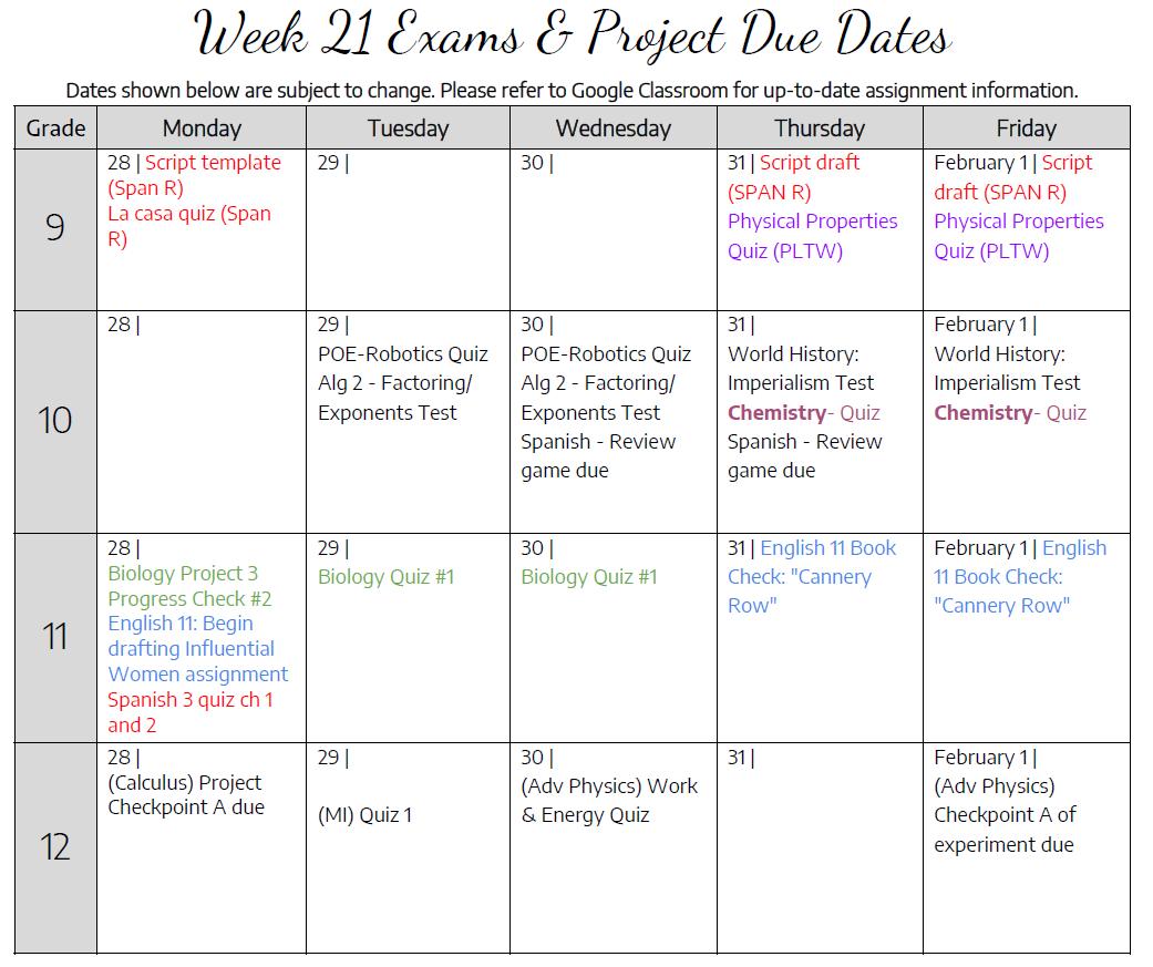 Week21DueDates